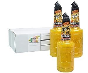 Finest Call Premium Passion Fruit Puree Drink Mix, 1 Liter Bottle (33.8 Fl Oz), Pack of 3