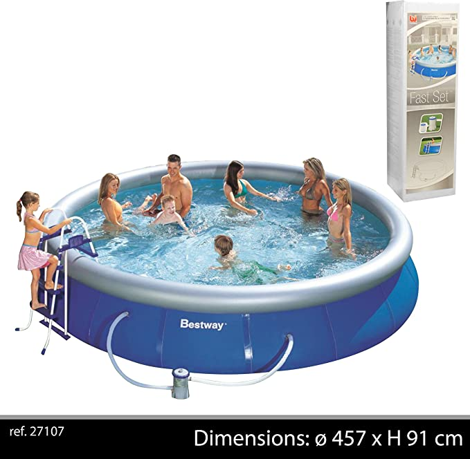 Bestway Fast Set Piscina, 457x91 cm: Amazon.es: Jardín