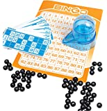 Perfect Life Ideas Portable Car Travel Bingo Game - Bingo Game Kit for Kids Boys Girls Adults Family - Ideal for Bridal Showers Christmas Holidays Parties - Vintage Learning Toy Minii Bingo Set