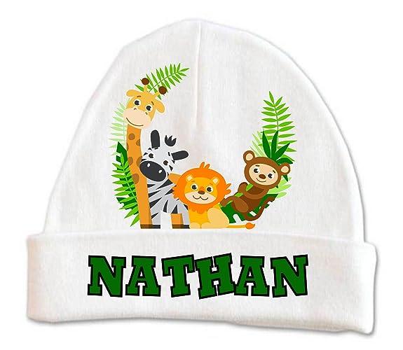 Amazon.com  Cute Zoo Jungle Animals Baby Beanie Hat Boys Winter Kids ... 4bba3c8f4fa