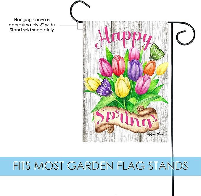 Toland Home Garden sand/ía Birdhouse jard/ín Bandera poli/éster S-12.5 x 18