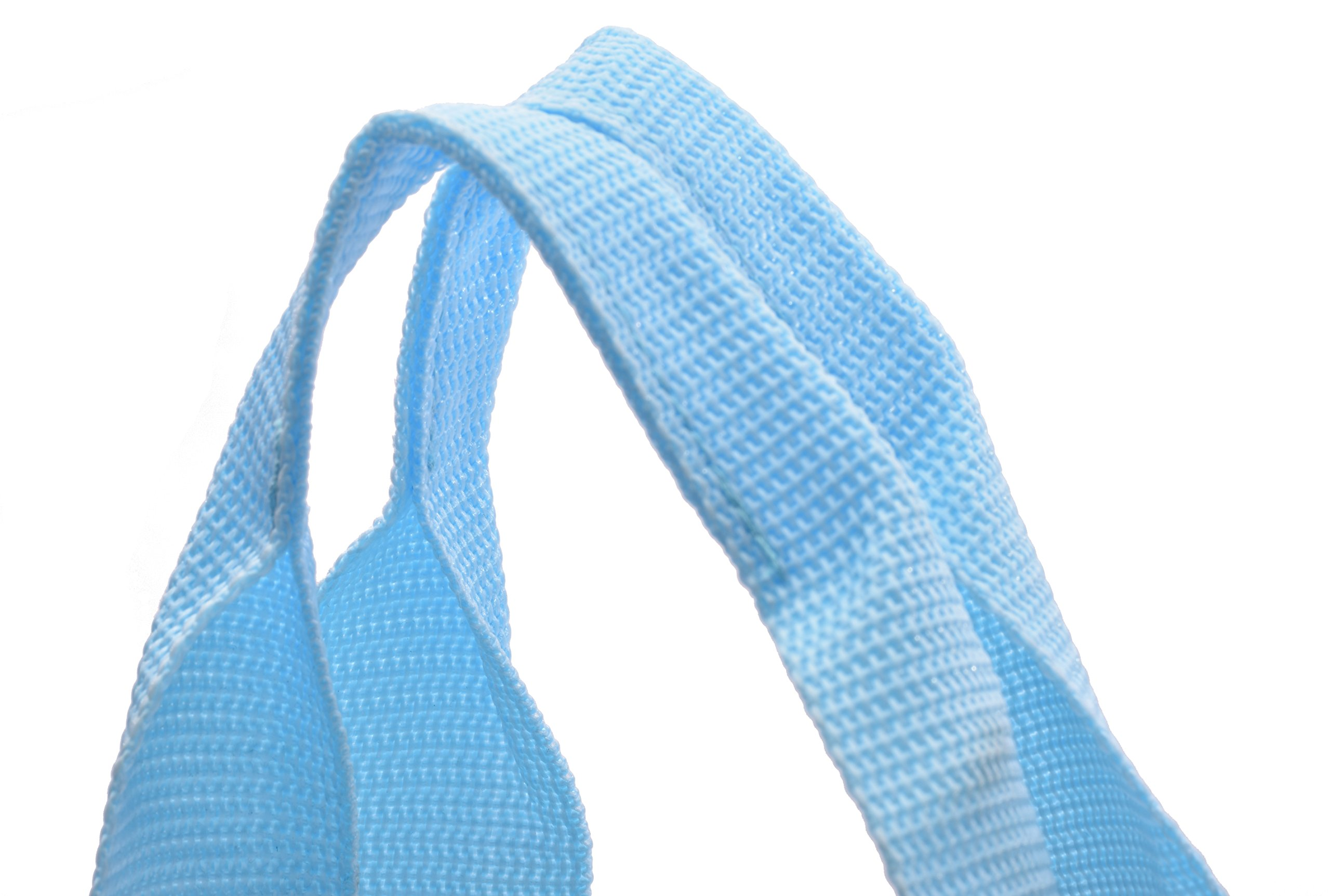 Clear Tote Bag - Top Zipper Closure, Long Shoulder Strap and Attractive Fabric Trimming. Perfect Transparent Travel Tote for all Places and Events where Clear Bags are Required. (Teal) by Handy Laundry (Image #6)