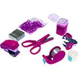 Mini Stationery Set in Plastic Case - Pink