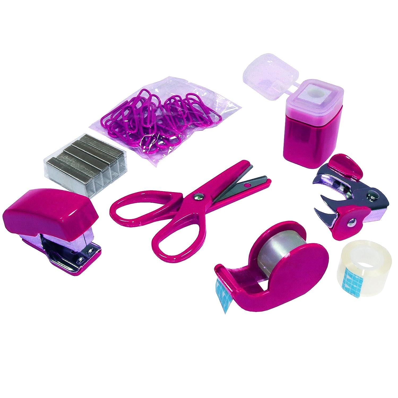 pink /& Wedo 67809 2fach Taschenlocher pink Kunststoff zum Abheften f/ür 8 cm Lochung, mit 12 cm Skala tesa/® Mini Korrekturroller