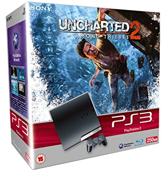 Sony PlayStation 3 Slim Console (250GB Model) with Uncharted 2