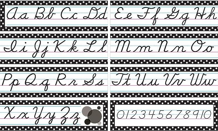 Free Printable Cursive Alphabet Banner
