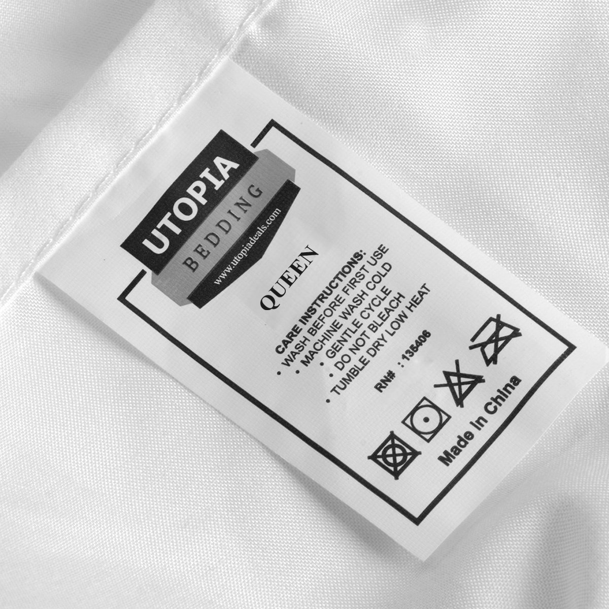 Utopia Bedding Fitted Sheet (Pack of 6, Queen, White) Deep Pocket Brushed Microfiber, Breathable, Soft and Comfortable - Wrinkle, Fade, Stain and Abrasion Resistant - Hotel Quality - Durable