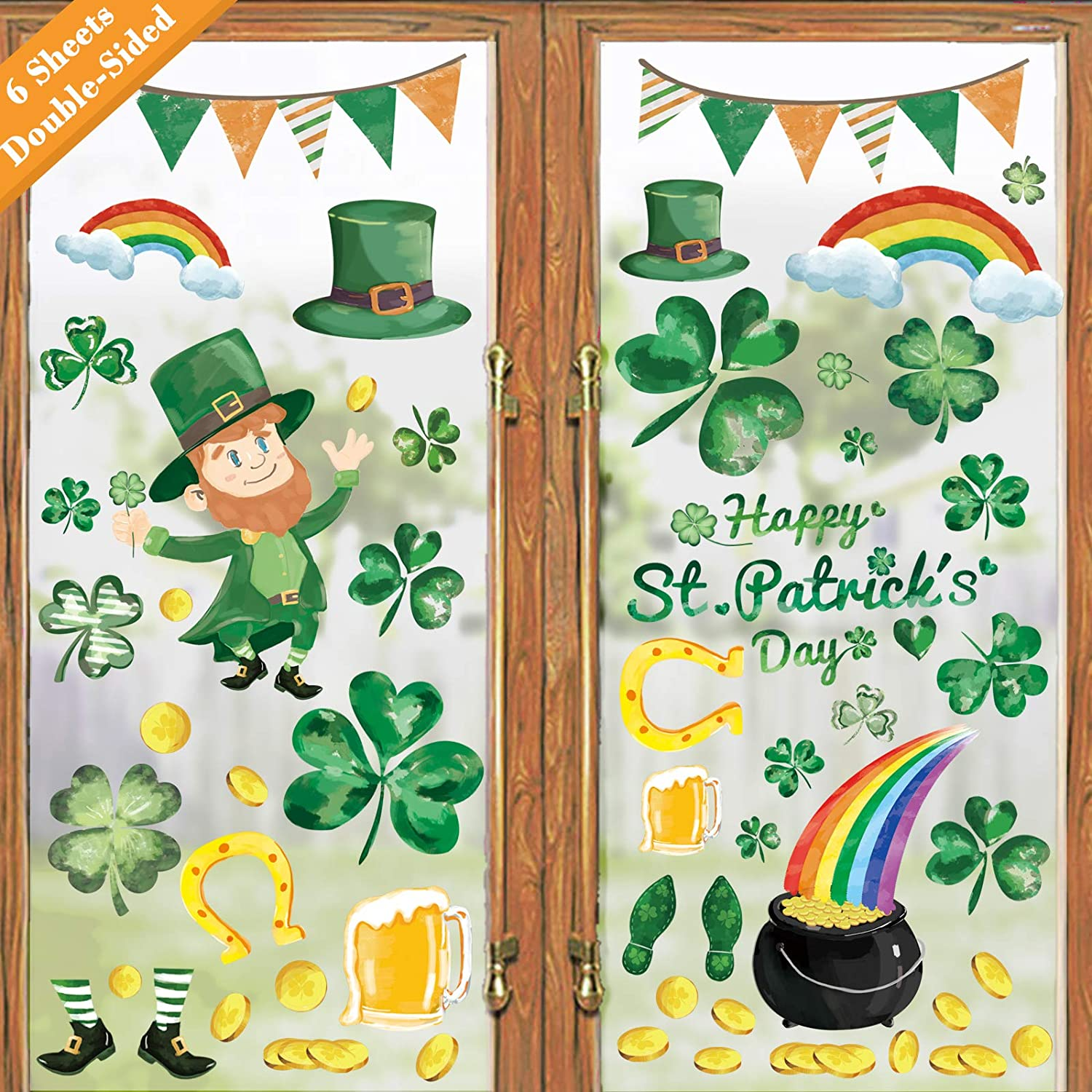 Pre Cut One Inch Bottle Cap Images ST PATRICK/'S DAY GREEN Free Shipping