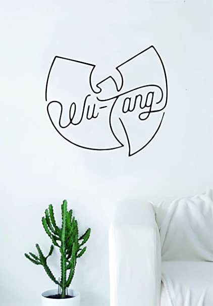 Amazoncom Wutang Logo V2 Cream Quote Wall Decal Sticker Room Art