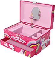 GirlZone: Unicorn Musical Jewelry Box, Ballerina Music Box for Girls, Great Birthday Gift for Girls