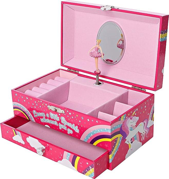 GirlZone Regalos para Niñas -Joyero Caja de Música para Niñas ...