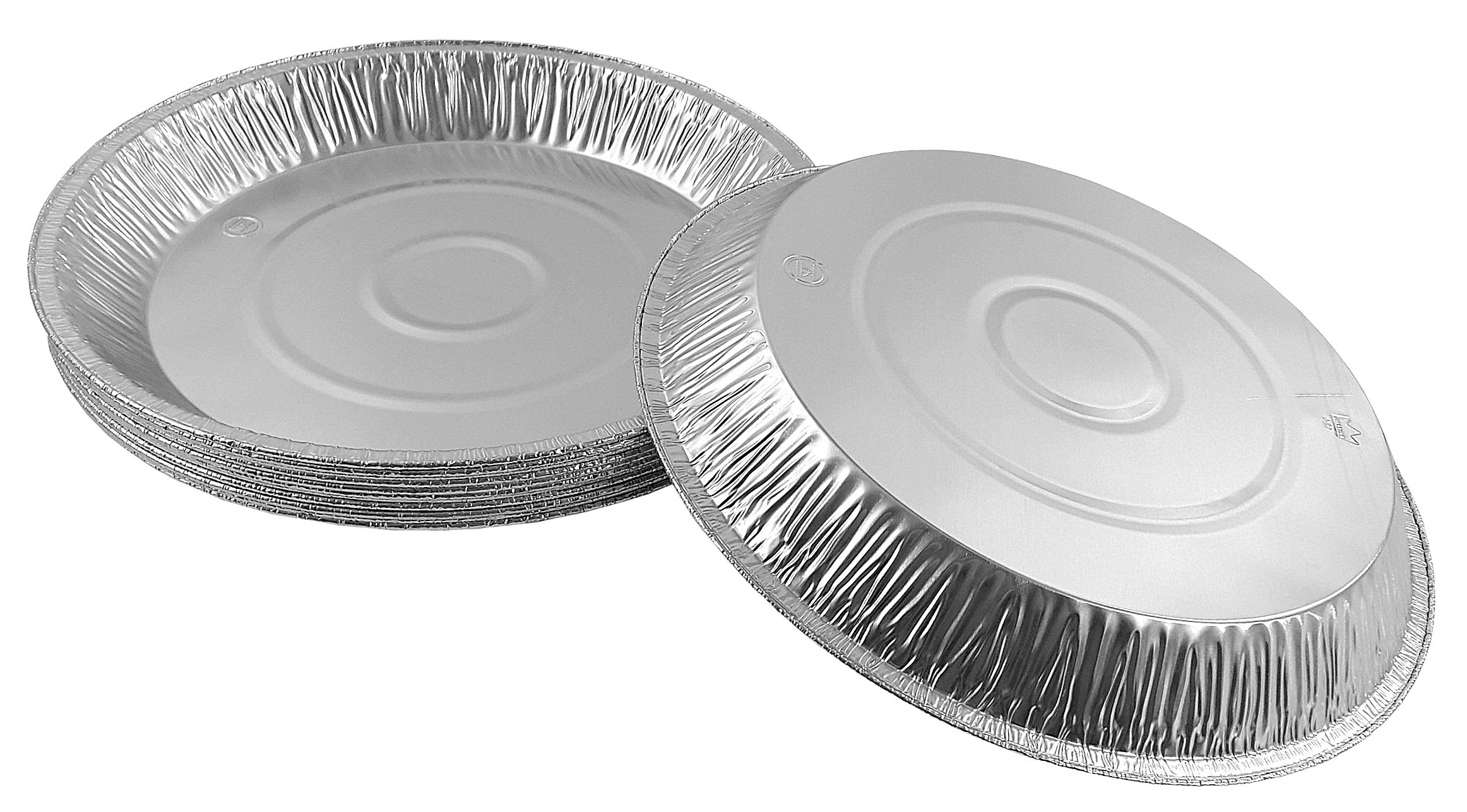 Pactogo 12'' Aluminum Foil Pie Pan Extra-Deep Disposable Tin Plates (Pack of 500) by PACTOGO (Image #3)