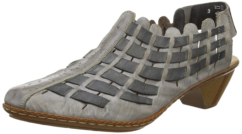 Rieker 46778-40 - Ciabatte Donna amazon-shoes grigio Ofertas 2018 Unisex Línea Barata Paquete De Cuenta Atrás De Salida U1IDZsK