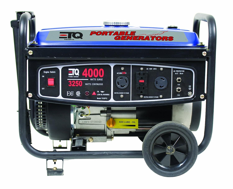 Amazon.com : ETQ TG32P12, 3250 Running Watts/4000 Starting Watts, Gas  Powered Portable Generator : Garden & Outdoor