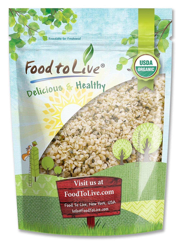 Chinese Organic Hemp Seeds, 8 Ounces — Raw Hearts, Hulled, Non-GMO, Kosher, Vegan, Bulk