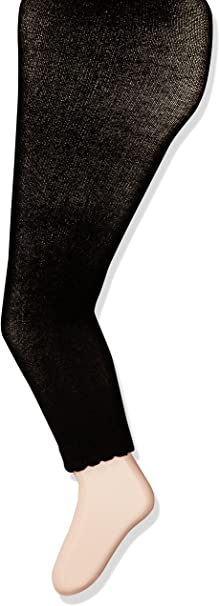 Jefferies Socks baby-girls Baby Cotton Footless Tights With Scalloped Edge Tights