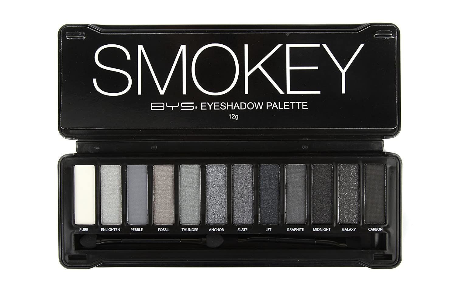 Bys 12 Color Eyeshadow Palette Nude Smokey 3 Ounce 1 Count