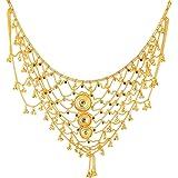 Handicraft Kottage Gold Plated Belly Chain for Women (Golden) (HK-KB-01)
