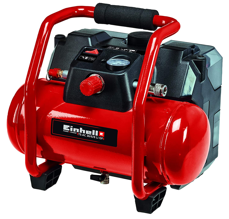 Einhell 4020450 TE-AC 36//6//8 Li OF Set-Solo Akku-Kompressor Rot Schwarz