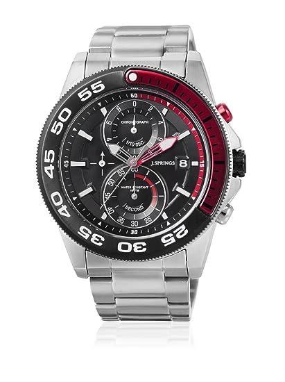 Jsprings BFD063 - Reloj para hombre con correa de acero, color negro/gris