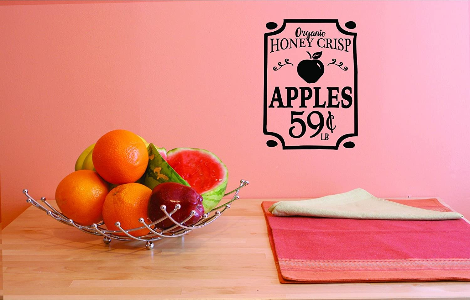 Design with Vinyl JER 1773 3 Hot New Decals Organic Honey Crisp Apples 59 Cents Wall Art Size 20 Inches x 40 Inches Color Black 20 x 40