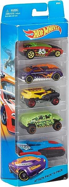 Hot Wheels 5 Paquete de regalo de Vehículos Random Surtido: Amazon ...