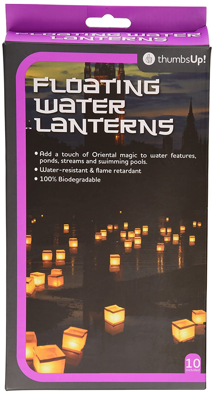 thumbs Up! - Paquet de 10 Lanternes d'eau Papier Blan 11cm x 11cm x 11cm - 0000866 Thumbs Up (THUM6) WATLAN10