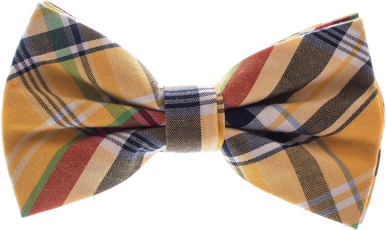 Retreez British Bar Striped Woven Microfiber Pre-tied Boys Tie