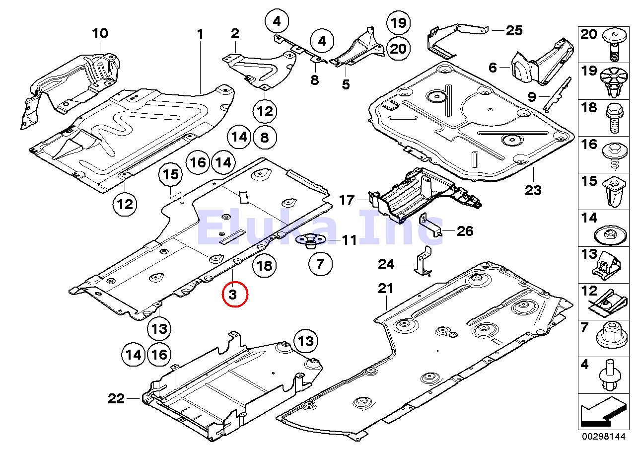 BMW Genuine Underfloor Coating Undercar Shield Rear Right  X1 28i X1 28iX X1 35iX 323i 325i 325xi 328i 328xi 330i 330xi 335i 335xi 323i 328i 328xi 335d 335i 335xi 325xi 328i 328xi 328i 328xi