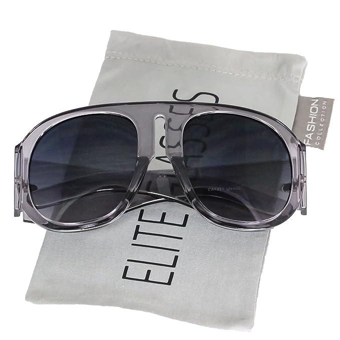 Amazon.com: Marco de anteojos de gran tamaño anteojos de sol ...