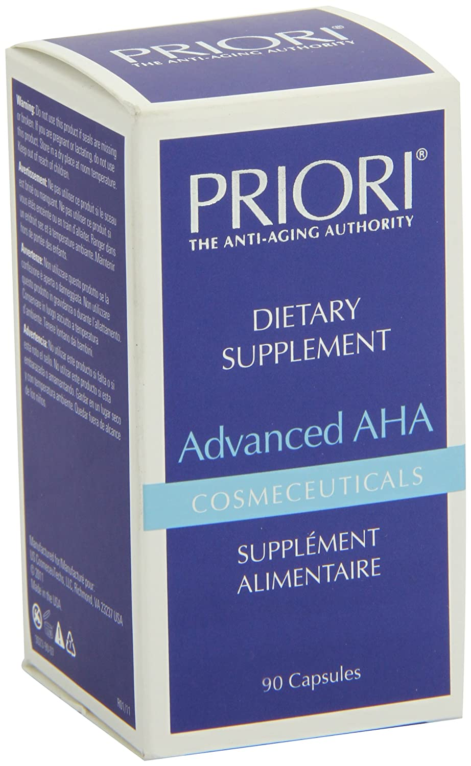 Amazon.com: Priori Advanced Aha Dietary Supplement Capsules, 90 Count: Health & Personal Care