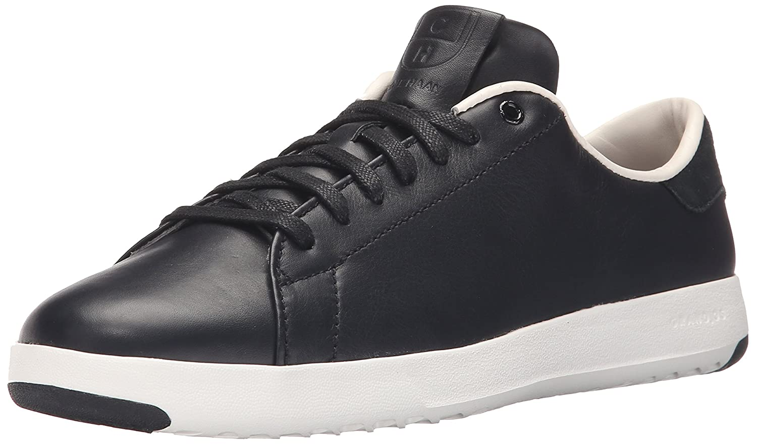 Cole Haan Women's Grandpro Tennis Leather Lace OX Fashion Sneaker B01A8HOBU4 10 B(M) US|Black/Optic White