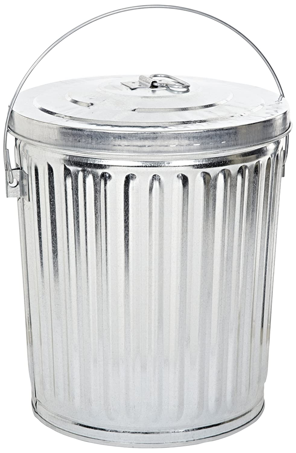 Aluminium Garbage Cans : Galvanized steel gallon light duty trash garbage can