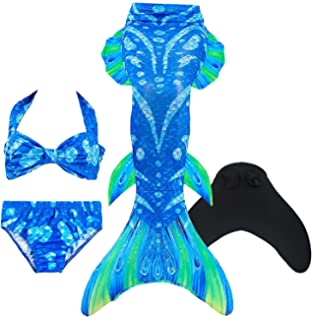 Swimming Mermaid Tails Cosplay Girls Mermaid Tail Swimsuit Kids Sparkle Swimmable Swimwear Sets Costume Can Add Monofin 50% OFF Mother & Kids