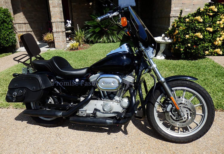 Black Mingting Sissy Bar Passenger Backrest Luggage Rack for Harley Sportster Iron 1200 883 XL 2004-2016
