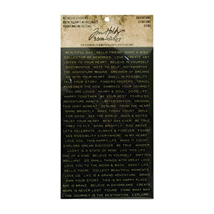 Amazon quotations metallic stickers by tim holtz idea ology amazon quotations metallic stickers by tim holtz idea ology 025 inch tall each 316 word stickers th93559 solutioingenieria Gallery