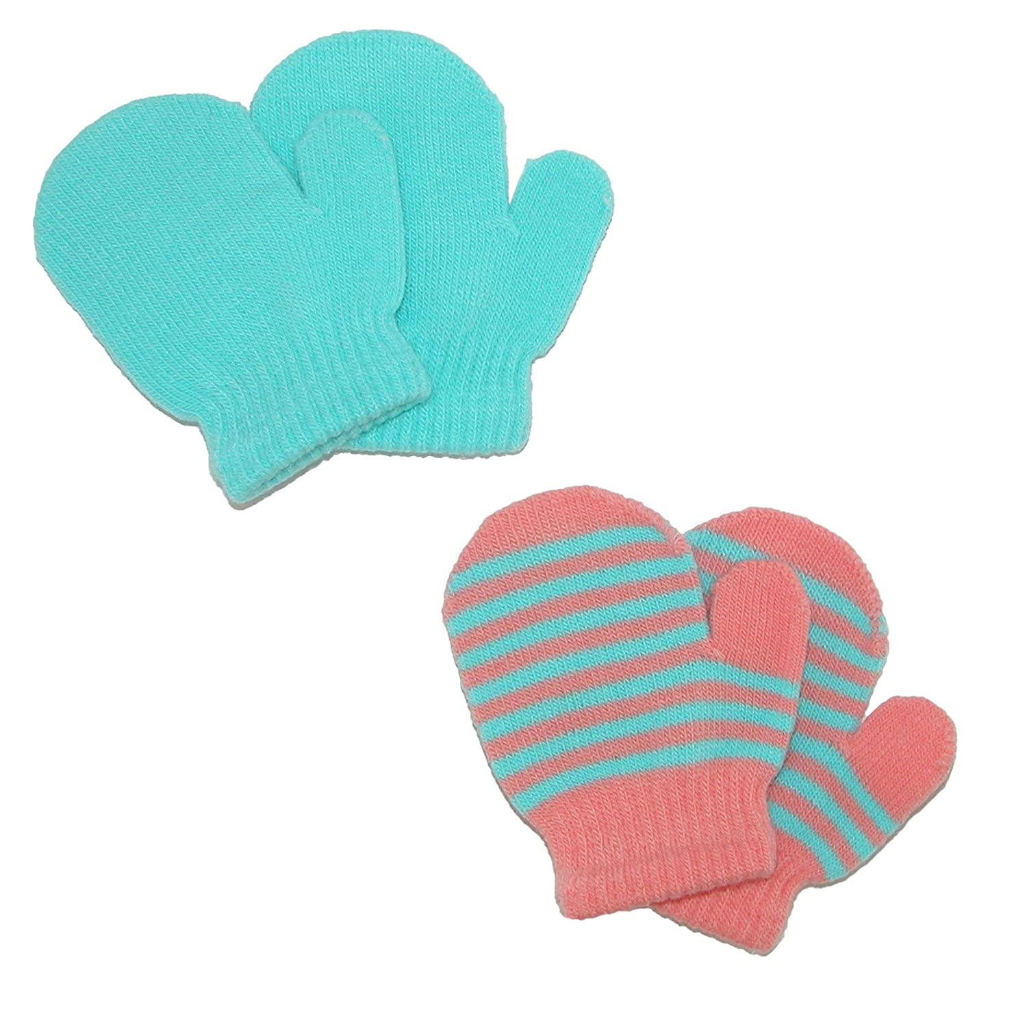 CTM® Toddler's and Infant's 2 Stretch Mittens, Light Blue GM-MG1060-LTB