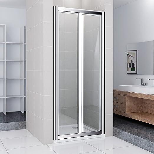 Mampara de ducha pared ducha cabina EchtGlas Duche – Puerta Puerta de ducha nichos Puerta 90 x 185 cm/Incluye Plato de ducha de 90 x 90 cm: Amazon.es: Hogar