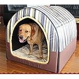 JPtuotu Multifuncional plegable Cama Cómodo Casa Para Perro gato Mascota (L (60X45X45CM),