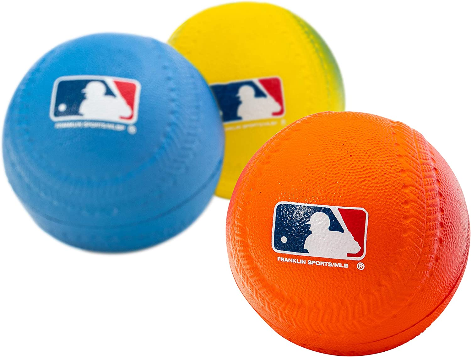 Franklin Sports Foam Baseballs - Soft Foam Practice Baseballs for Kids - Perfect for Hitting and Indoor or Outdoor Play - 3 Pack - Official MLB Licensed Product: Toys & Games