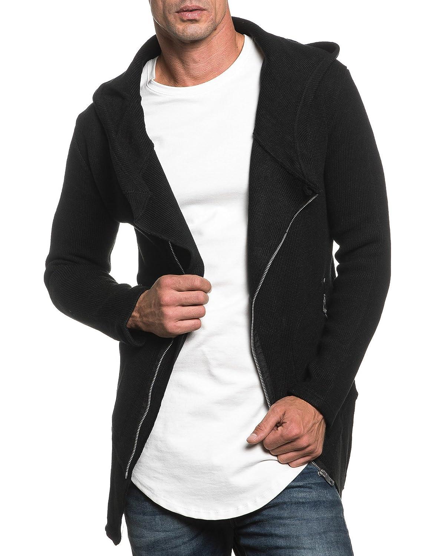 BLZ jeans - Vest man black zippered mesh oversize