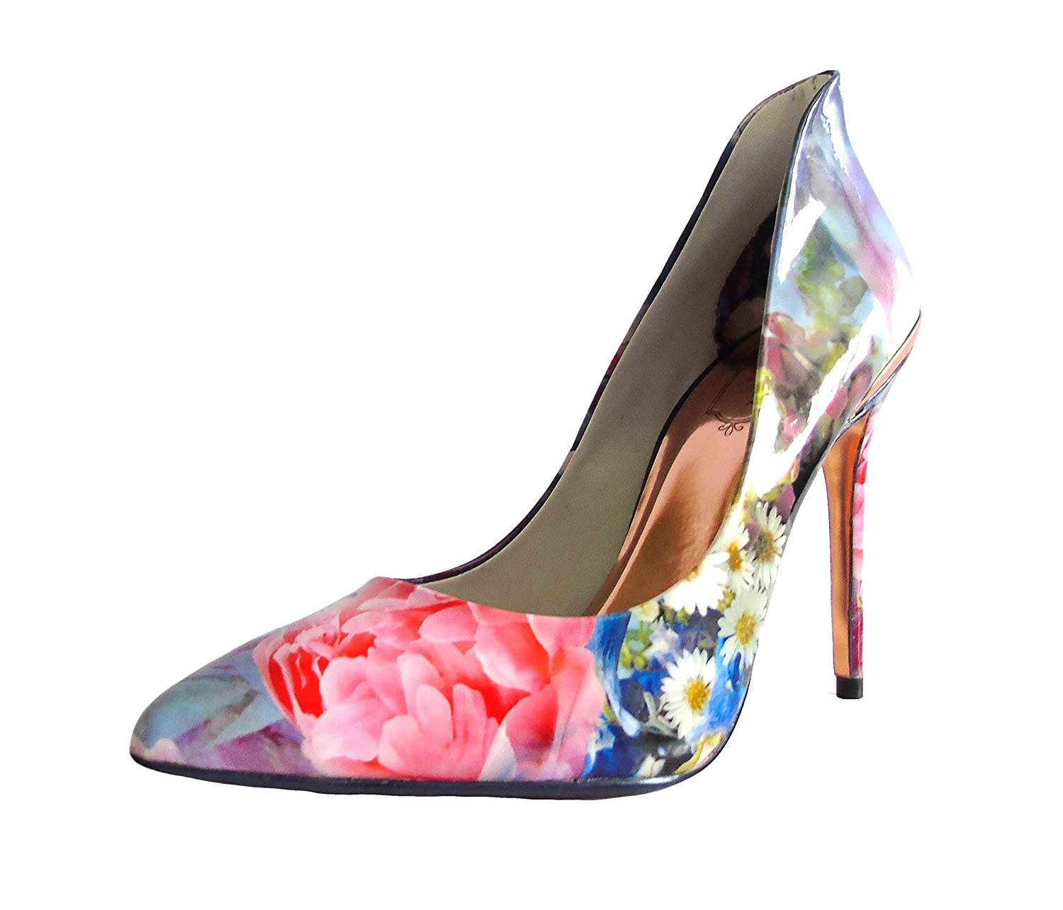 751cc0158 Ted Baker Patent Floral Shoes (6 UK) Powder Blue  Amazon.co.uk  Shoes   Bags