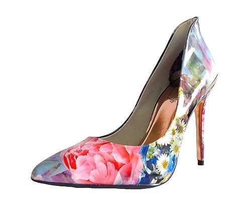 2e3903c41f2a2d Ted Baker Patent Floral Shoes (6 UK) Powder Blue  Amazon.co.uk ...