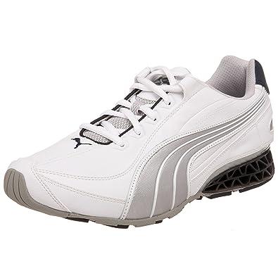 robo cortar Festival  Buy Puma Men's Cell Cerae II Sneaker, White Silver/New Navy, 10.5 M at  Amazon.in