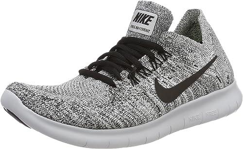 Nike Free Rn Flyknit 2017 Chaussures de Running Femme Noir