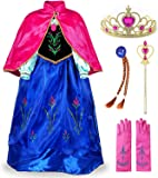 JerrisApparel Girls Princess Dress Costume Cosplay Dress Up with Accessories