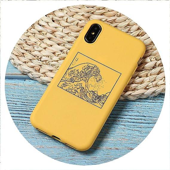 Amazon.com: The Great Wave Off Kanagawa Back Cover Soft ...