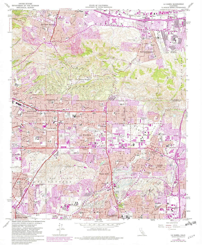Sothern California Map La Habra Ca.Amazon Com Yellowmaps La Habra Ca Topo Map 1 24000 Scale 7 5 X