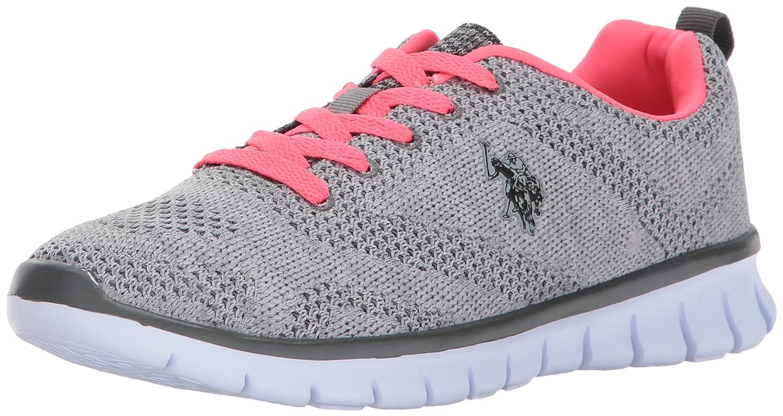 U.S. B01NB1ZVU8 Polo Assn. Women's Women's Emery-k Fashion Sneaker B01NB1ZVU8 U.S. 6 B(M) US Grey/Neon Coral e9ac1b