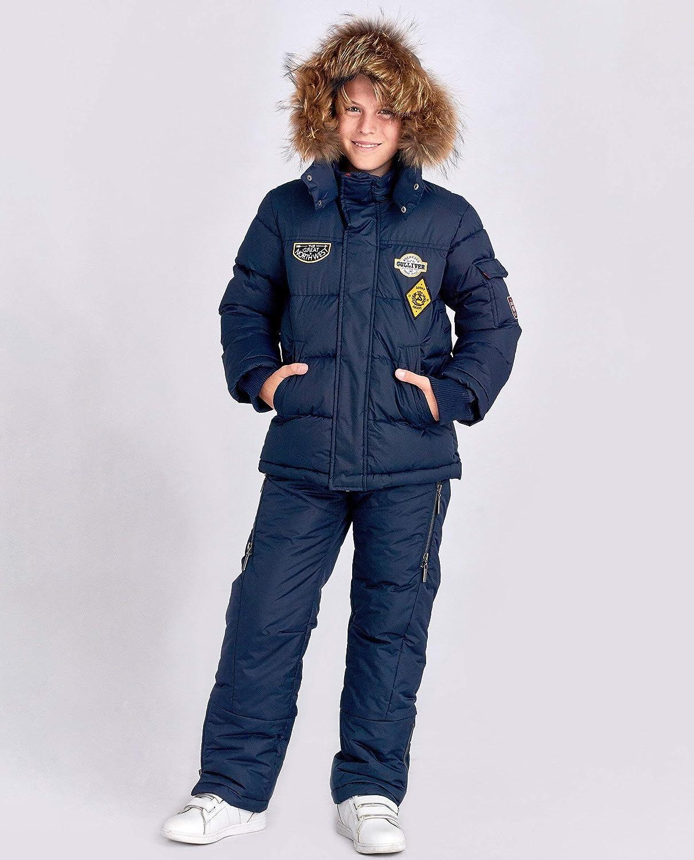 per 7-10 Anni Blu Navy 122 cm Colore Blu Navy con Cappuccio in Pelliccia e Toppe Gulliver Impermeabile Piumino Invernale per Bambini 7 Anni
